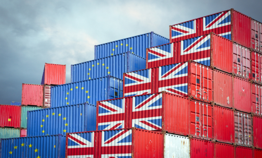 EU and British cargo containers