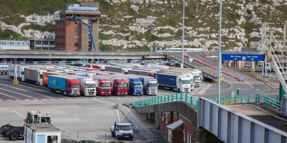 Dover Port Ferry Dock – Drukte – Brexit –