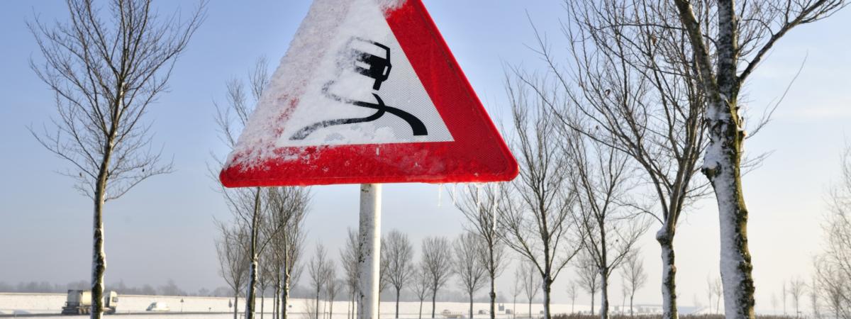 Gladheid – waarschuwing – code geel – sneeuw – winter