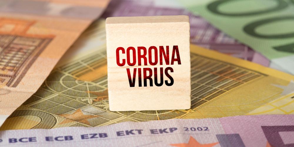 Euro banknotes and coronavirus