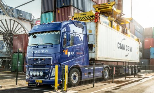 HUB – mobile – Containervervoer – RF Transport – Volvo