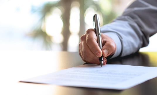 cao – papier – Contract