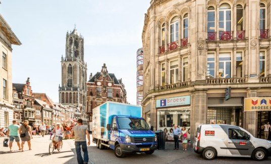 Centraal Boekhuis – CB – Utrecht – Dom – Stadsdistributie – Groen – Zero emissie – duurzaam