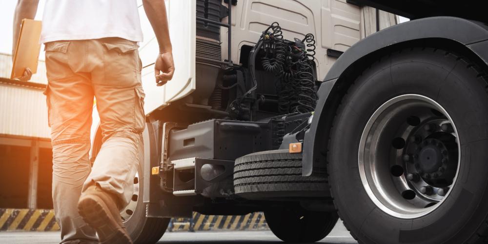 vrachtwagenchauffeur – lopen