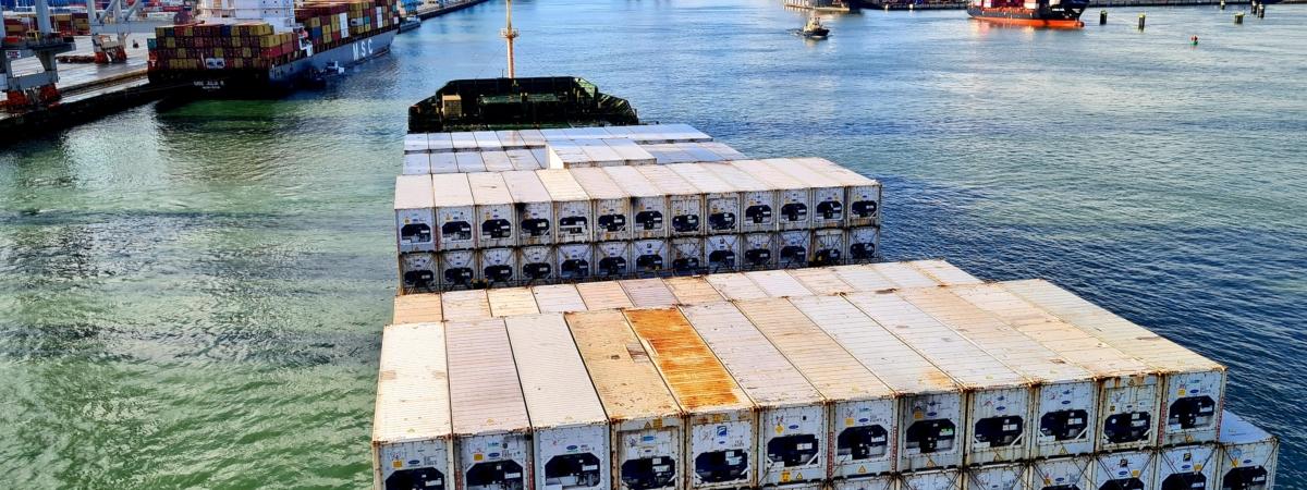 HUB 6 CVB containerschip lossen Bart Kerklaan