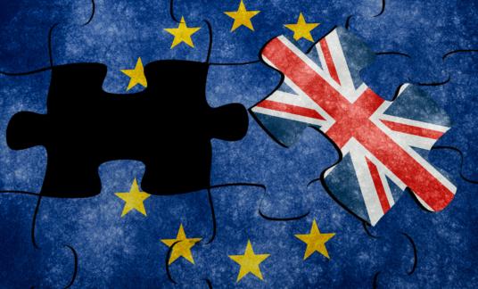 Euro flag puzzle concept