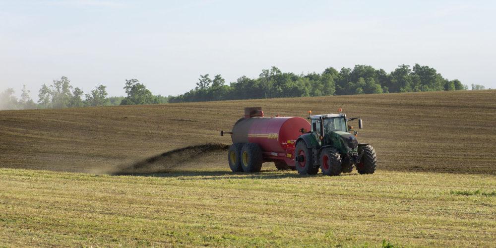 Farmer Spreading Liquid Manure
