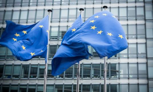 European flags.