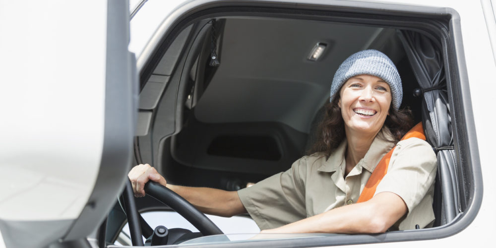 Female truck driver – Vrouw- chauffeuse