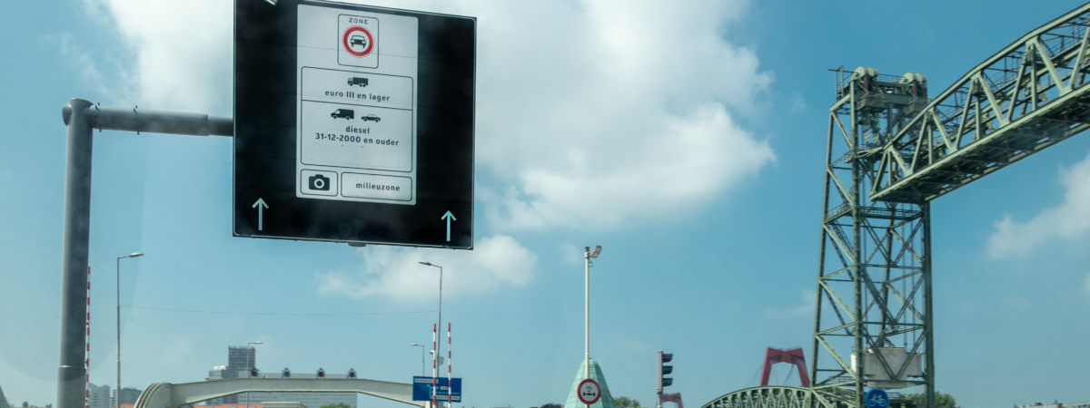 Entering the Rotterdam clean environment zone
