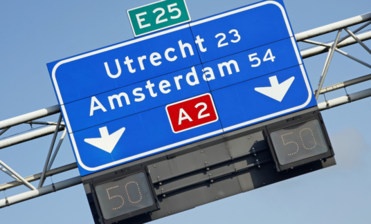 Dutch highway direction sign # 3